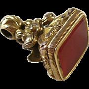 Victorian Fancy Gold Filled Carnelian Watch Fob