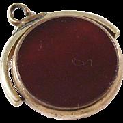 Vintage Flip Edwardian Watch Fob - Carnelian and Bloodstone