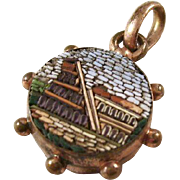 Antique Micromosaic Watch Fob - Grand Tour - Classical Scene