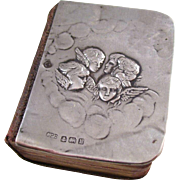 Charming Edwardian Reynold's Angels Book of Common Prayer book - Sterling Silver Cover, 1907