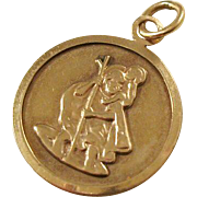 Vintage St. Christopher Medal - 9kt gold - Patron of Travelers