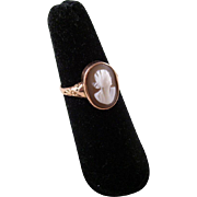 Vintage Cameo Ring - 9 carat gold setting - dated 1917 - size 7