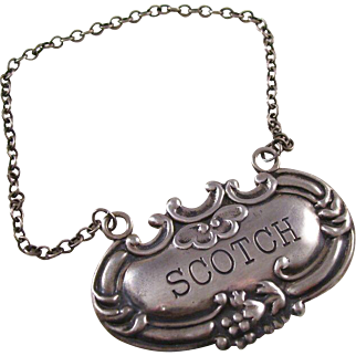 Sterling Silver Decanter Label - SCOTCH