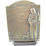 Bronze Plaque on stand featuring the 23rd Psalm