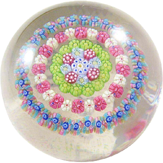 Lovely Baccarat Paperweight - Mille Fiori - estate piece