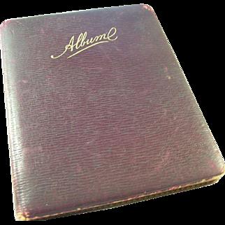 Charming Victorian English Autograph Album - many inscriptions & illustrations