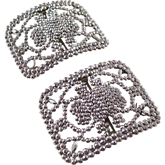 Gorgeous pair of Edwardian Cut Steel Shoe Buckles - fantastic condition
