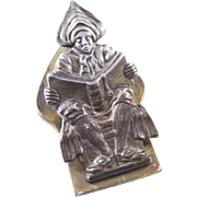Edwardian Figural Desk Clip - Dutch or Flemish Scholar
