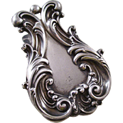 Fantastic Vintage Sterling Silver Desk Clip - very fancy