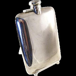 Stylish vintage Sterling Silver Flask - Simple and Elegant