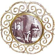 Lovely Round Victorian Brass Photo Frame - ca 1880