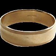 Vintage Gentleman's Wedding Band - English, 9ct gold - American Size 11