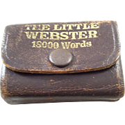 Miniature Book - Little Webster Liliput Dictionary - 1940's