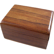Charming Victorian Wooden Souvenir Stamp Box - dated 1891