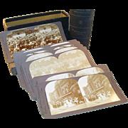 Fantastic Complete set of English Royalty Coronation Stereoviews in Box - Edward VII & Alexandra