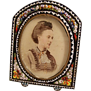 Vintage MicroMosaic Frame - early 20th century