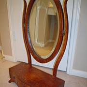 Quartersawn Oak Dresser Mirror