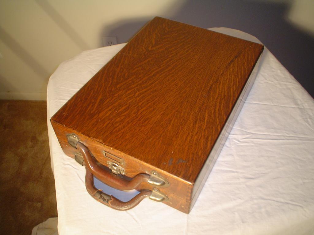 Quartersawn Oak Rare  File Cabinet Suitcase
