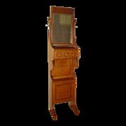 Great Quartersawn Oak Mirrored Shaving Stand