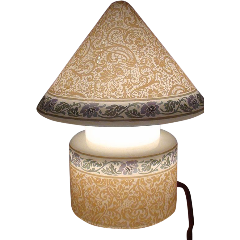 Brown Etched Bellova Gnome Lamp.