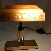 Very Rare Form Emeralite #7 Desk Lamp