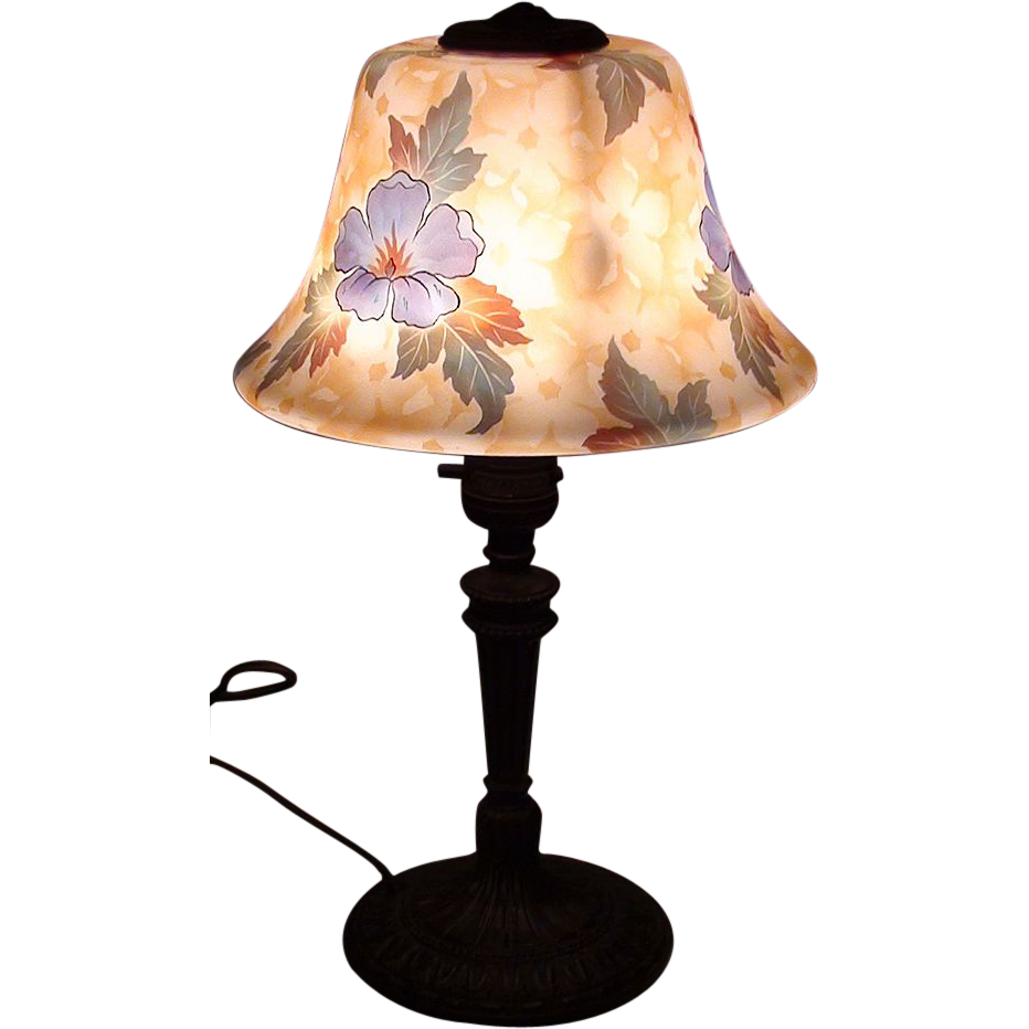 Beautiful Painted Bellova Boudoir Lamp