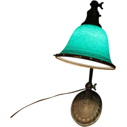 Lovely Bellova Desk Lamp with Etched Bell  Shade