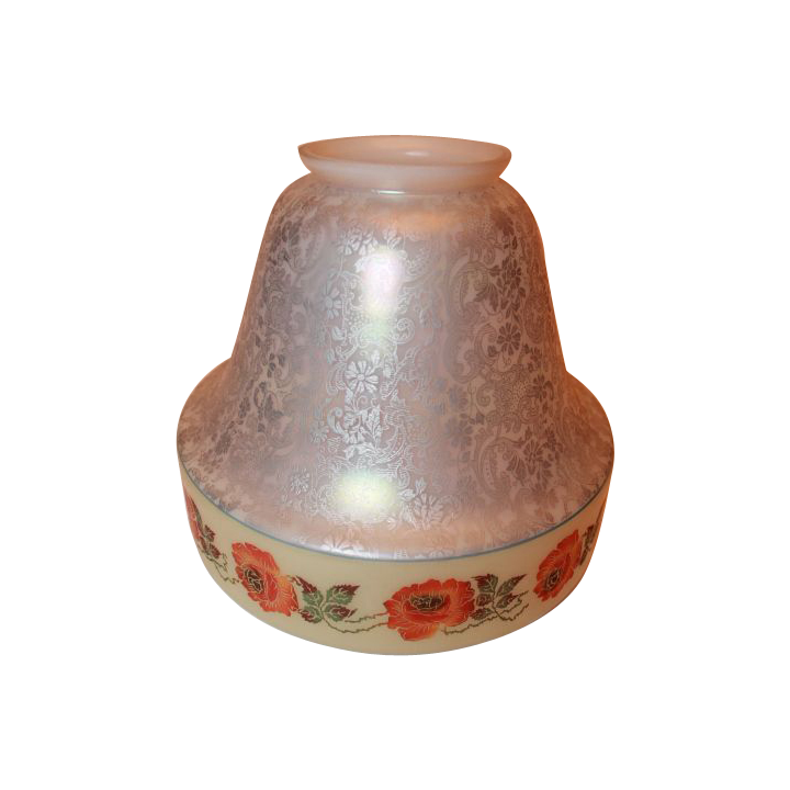 Large Beautifully Painted Bell Shaped Bellova Shade