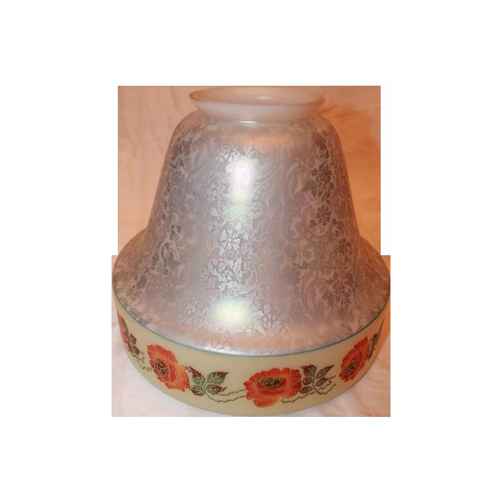 Large Beautifully Painted Bell Shaped Bellova Shade