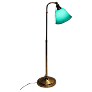 Rare Form Emeralite Etched Shade Floor Lamp