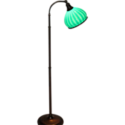 Emeralite Striped Shade Floor Lamp