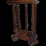 Quartersawn Oak Lion carved Clock Stand