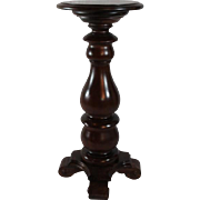Heavy, Turned, Black Walnut Pedestal