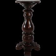 Heavy, Turned, Black Walnut Pedestal