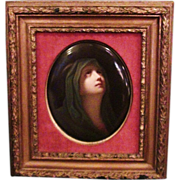 RARE LARGE Outstanding EARLY KPM Porcelain Plaque of a Virgin