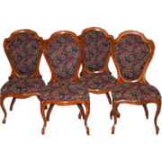 4 Matching J.H.Belter Oak Chairs