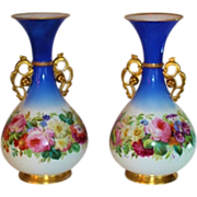 """Exquisite PAIR of HUGE 1850's Antique Paris Porcelain Vases ~ Outstanding Old Master Paintings ~ 16 1/2"""" Vases Hand Painted on ALL SIDES ~ Collector's Dream Pieces!"""
