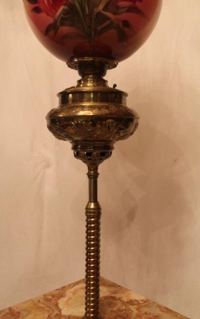 Antique Brass Piano Floor Lamp Huge Original 13 Quot Shade