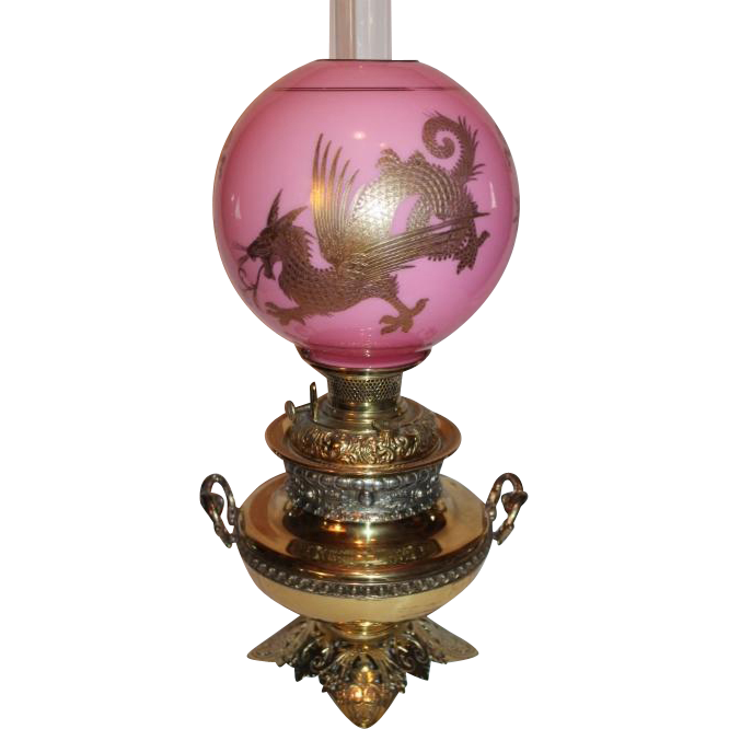 VERY RARE EXCEPTIONAL B&H (Bradley Hubbard) Aesthetic Banquet Lamp ...