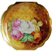 JPL France Limoges Hand Painted Plate with Roses
