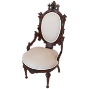 Jelliff Victorian Walnut Renaissance Revival Side Chair