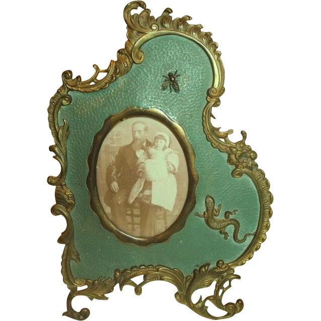Rare Outstanding c 1880's Brass Photo Frame