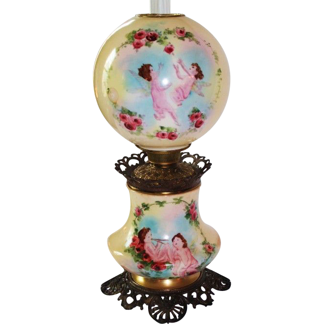 Large Gone With The Wind Oil Lamp 11 Quot Shade