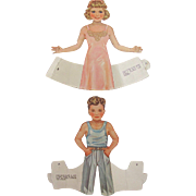 Whitman Dolls That Walk Vintage 1939 Cut Paper Dolls