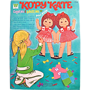 Kopy Kate Paper Dolls A Whitman Book Uncut Vintage 1971