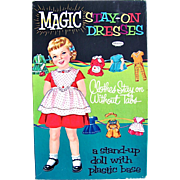 Magic Stay-On Dresses Whitman Paper Doll in Original Box Vintage 1961