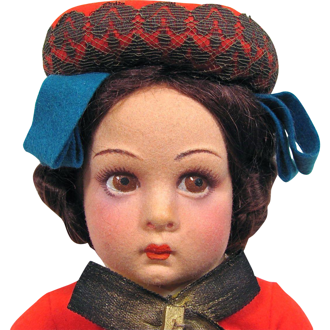 Lenci  Italian Girl 14-Inch Doll in Original Box All Original Circa 1938