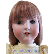 "24"" Schoenau Hoffmeister Antique German Bisque Head Doll, Beautiful Redhead, Circa 1909, Redressed and Display Ready"