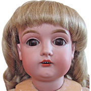 Kestner Child Doll, Bisque Head with Open Mouth, Stamped Composition Ball Jointed Body, 24 Inch, Vintage 1910s