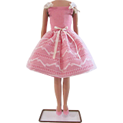 "Skipper Party Pink Dress and Pink ""Japan"" Flats, Vintage Mattel 1965-1967"